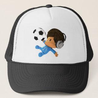 ピーカーブ式サッカーのアフロ型 キャップ