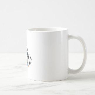 ピーカーブ式スーパースターのサッカーの版 コーヒーマグカップ