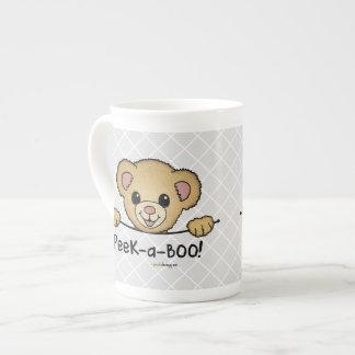 ピーカーブ式ペット(おもしろい、幸せ、かわいいくま) ボーンチャイナカップ