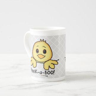 ピーカーブ式ペット(おもしろい、幸せ、かわいいひよこ) ボーンチャイナカップ
