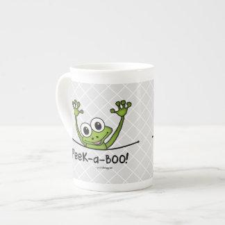 ピーカーブ式ペット(おもしろい、幸せ、かわいいカエル) ボーンチャイナカップ