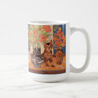 ピーカーブ式子ネコ: かわいい絵画 コーヒーマグカップ