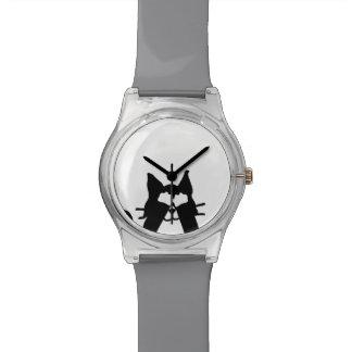 ピーカーブ式子猫猫のカバーの目 腕時計
