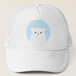 ピーカーブ式白くまのトラック運転手の帽子 キャップ