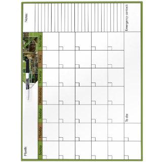 ピーカーブ式6Wカレンダー ホワイトボード