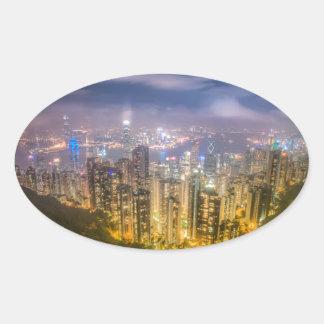 ピークからの眺め、香港 楕円形シール