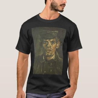 ピークの若い小作人のフィンセント・ファン・ゴッホの頭部 Tシャツ