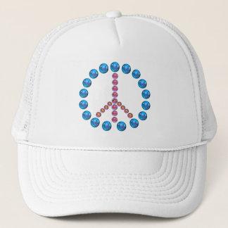 ピースサインのアートワークの帽子 キャップ