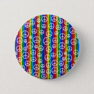 ピースサインの泡ボタン 5.7CM 丸型バッジ