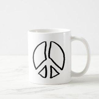 ピースサインの空 コーヒーマグカップ