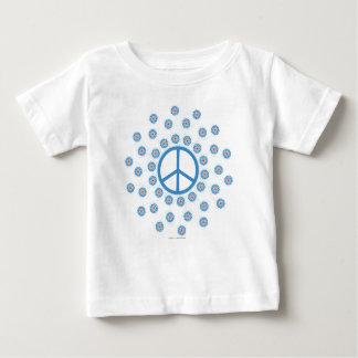 ピースサインの花 ベビーTシャツ