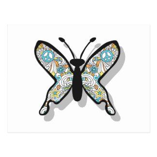 ピースサインの蝶 ポストカード