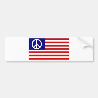 ピースサインの記号はアメリカ米国の旗主演しましたり及びストライプ バンパーステッカー