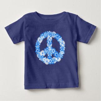 ピースサインの青 ベビーTシャツ