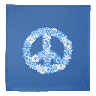 ピースサインの青 掛け布団カバー