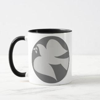 ピースサインの鳩 マグカップ
