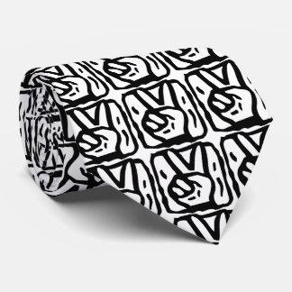 ピースサイン手の記号 ネクタイ