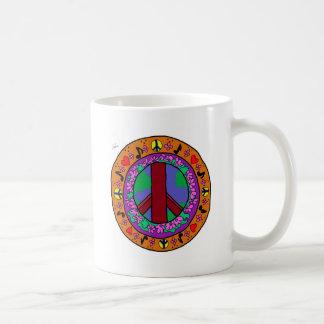 ピースサイン コーヒーマグカップ