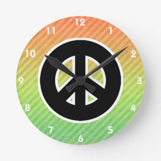 ピースサイン ラウンド壁時計