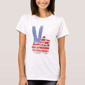 ピースサイン(ヴィンテージのスタイル) Tシャツ