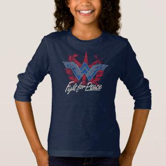 ピースマークのためのワンダーウーマンの戦い Tシャツ