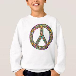 ピースマークのサイケデリックな芸術のデザインのTシャツ スウェットシャツ