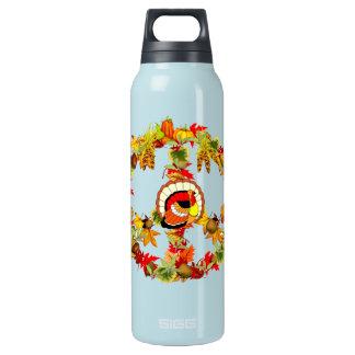ピースマークの感謝祭トルコ 断熱ウォーターボトル