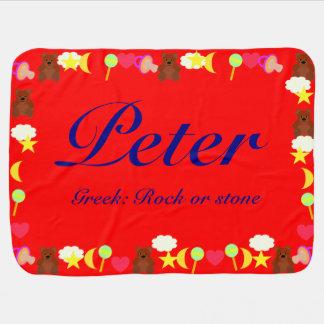 ピーターのベビーブランケットのテンプレート ベビー ブランケット