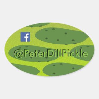 ピーターの楕円形のDilピクルス 楕円形シール