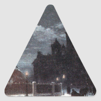 ピーターへの記念碑の眺め上院の正方形のI 三角形シール