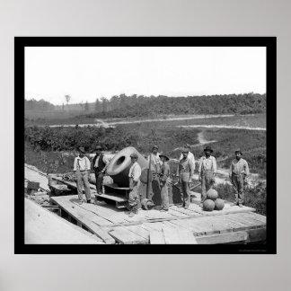 ピーターズバーグ1864年の乗組員を持つMortar独裁者 ポスター