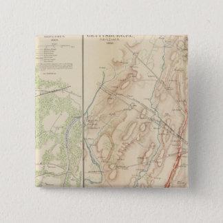 ピーターズバーグ、Gettysburg 5.1cm 正方形バッジ