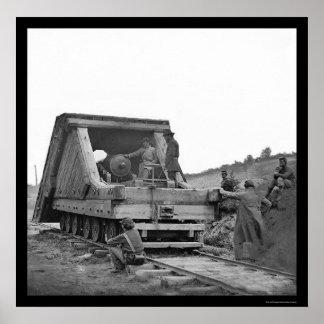 ピーターズバーグ、VA 1864年の鉄道銃そして乗組員 ポスター