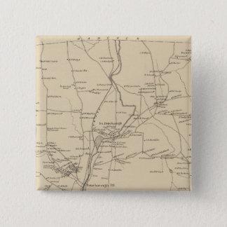 ピーターバラ、Hillsborough Co 5.1cm 正方形バッジ
