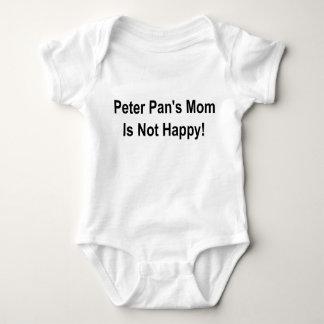 ピーターパンのお母さんは幸せではないです! ベビーボディスーツ