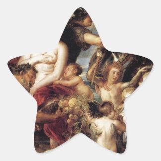 ピーターポール著平和の恵みのアレゴリー 星シール