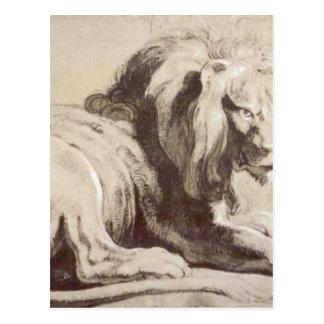ピーターポールRubens著ライオンのEtude ポストカード