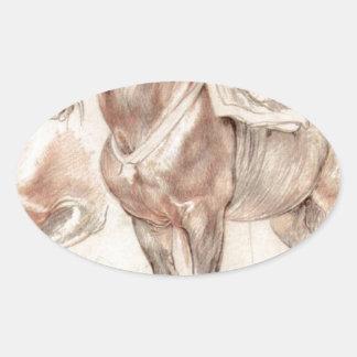ピーターポールRubens著馬のEtude 楕円形シール