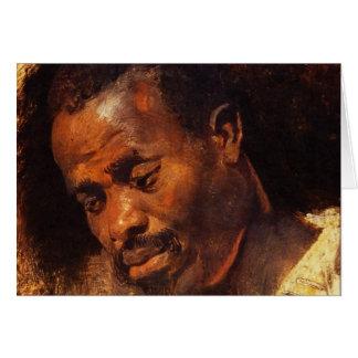 ピーターポールRubens著黒人の頭部 カード
