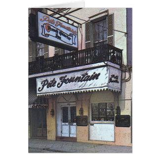 ピートの噴水のクラブ、ニュー・オーリンズ カード