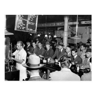ピートの昼食Counter 1950年 ポストカード