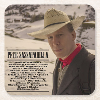 ピートSassaparilla -ウィスキーの酒飲みのコースター スクエアペーパーコースター