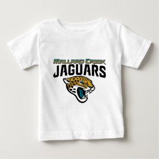 ピードモントの青年フットボールのマガモの入り江のジャガー ベビーTシャツ