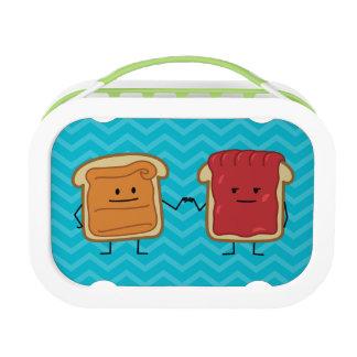 ピーナッツバターおよびゼリーの握りこぶしの隆起 ランチボックス