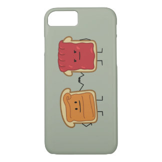 ピーナッツバターおよびゼリーの握りこぶしの隆起 iPhone 8/7ケース