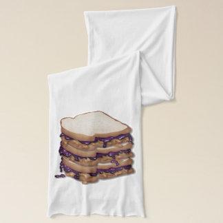 ピーナッツバターおよびゼリーサンドイッチ スカーフ