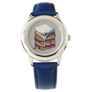 ピーナッツバターおよびゼリーサンドイッチ 腕時計