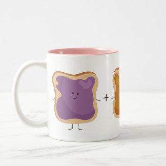 ピーナッツバターおよびゼリー愛マグ ツートーンマグカップ