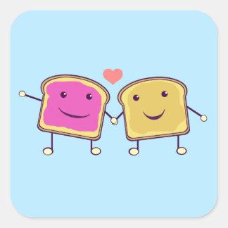 ピーナッツバターおよびゼリー スクエアシール