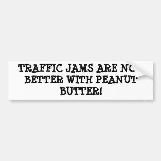 ピーナッツバターおよび(交通)込み合い バンパーステッカー
